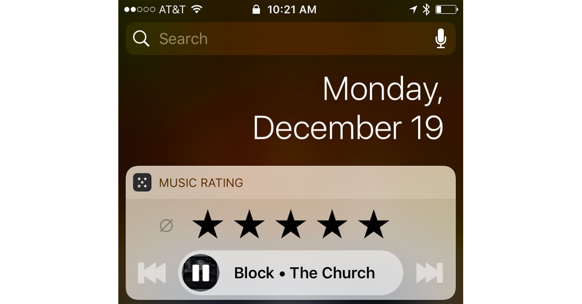 iPhone Star Ratings for Music on Your Lock Screen