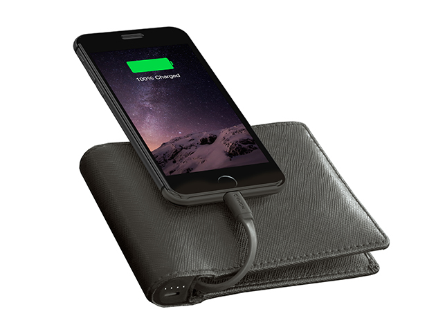 Nomad Leather MFi-Certified Charging Wallet: $49.95