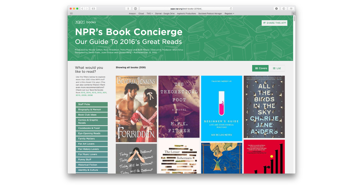 Find Everything You Want to Read on NPR's Book Concierge List