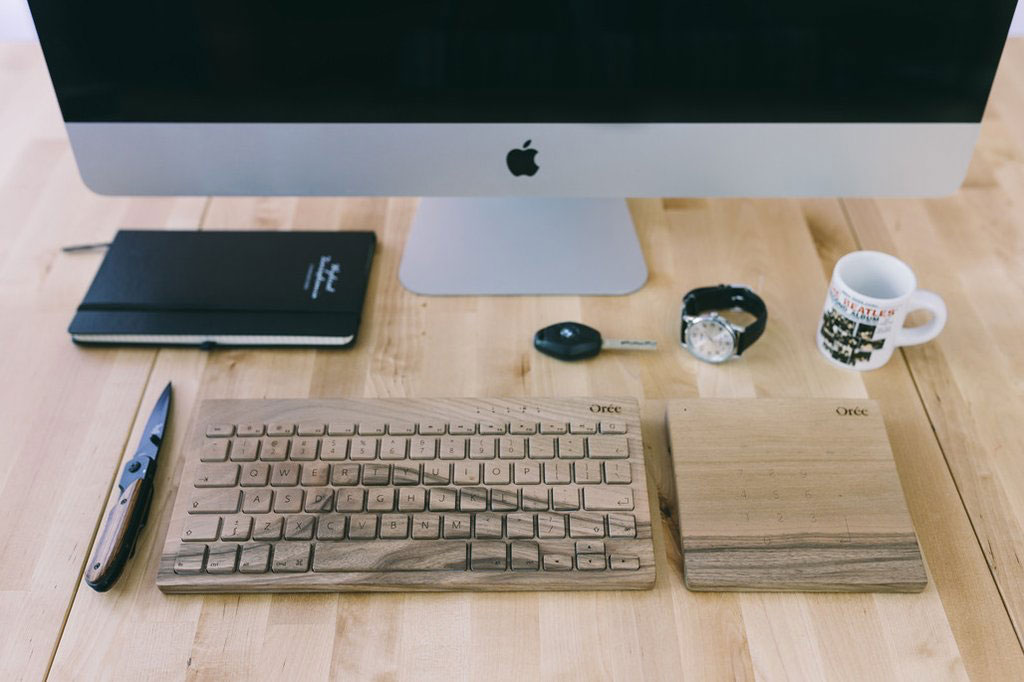 How about a Computer Keyboard or Trackpad Made of Wood?