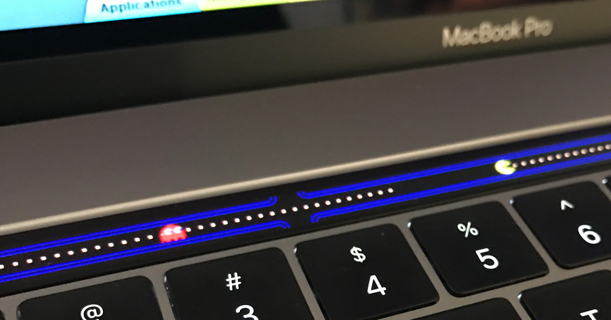 Play Pac-Man on your MacBook Pro Touch Bar