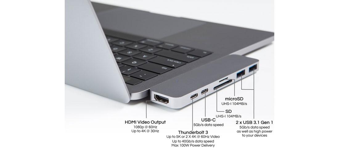 HyperDrive USB-C hub from Sanho on Kickstarter