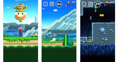 Super Mario Run on the iPhone