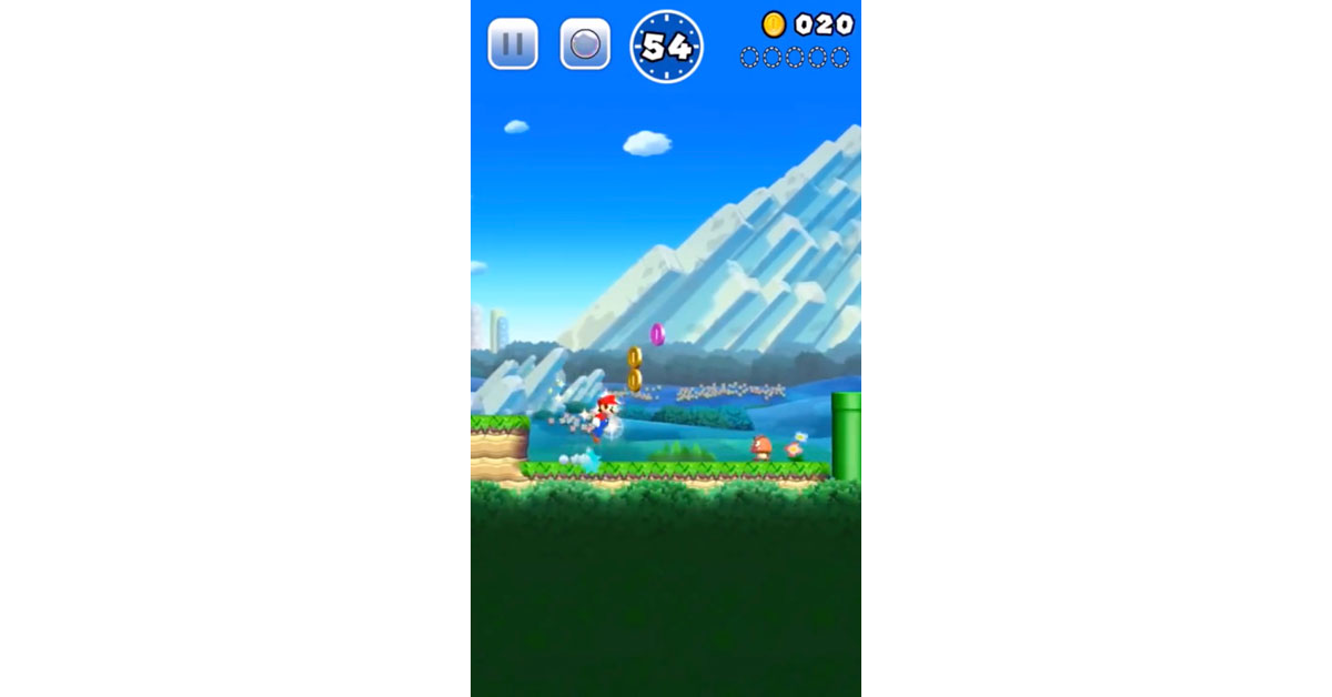 Screenshot from Super Mario Run Gameplay Trailer