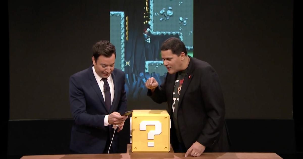 Jimmy Fallon plays Super Mario Run on The Tonight Show