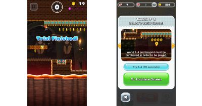 Super Mario Run lets you play levels for 20 seconds after you complete the first thee