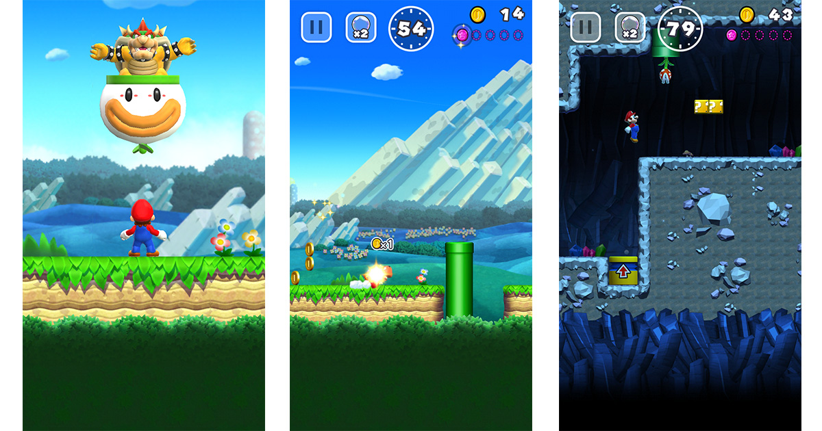 Super Mario Run on the iPhone