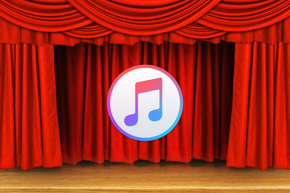 iTunes logo in theater
