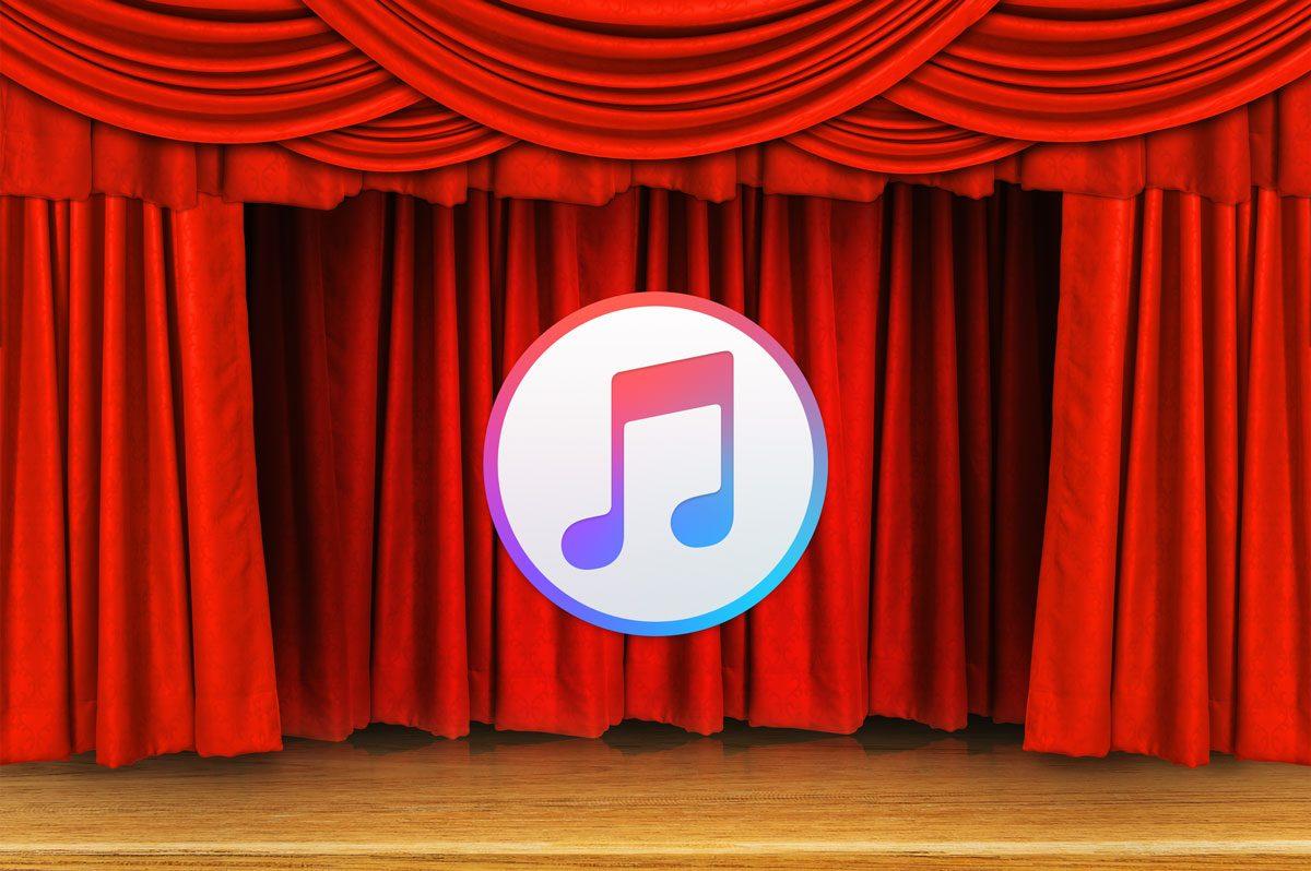 iTunes logo in theater