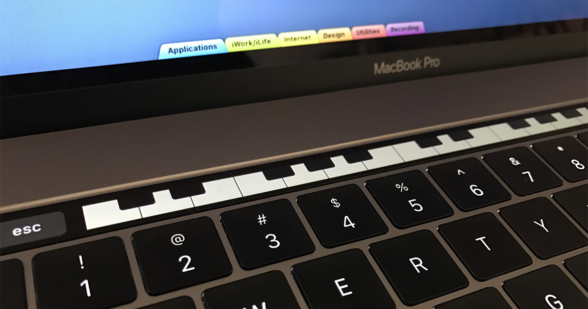Play piano on your MacBook Pro Touch Bar with Touch Bar Piano