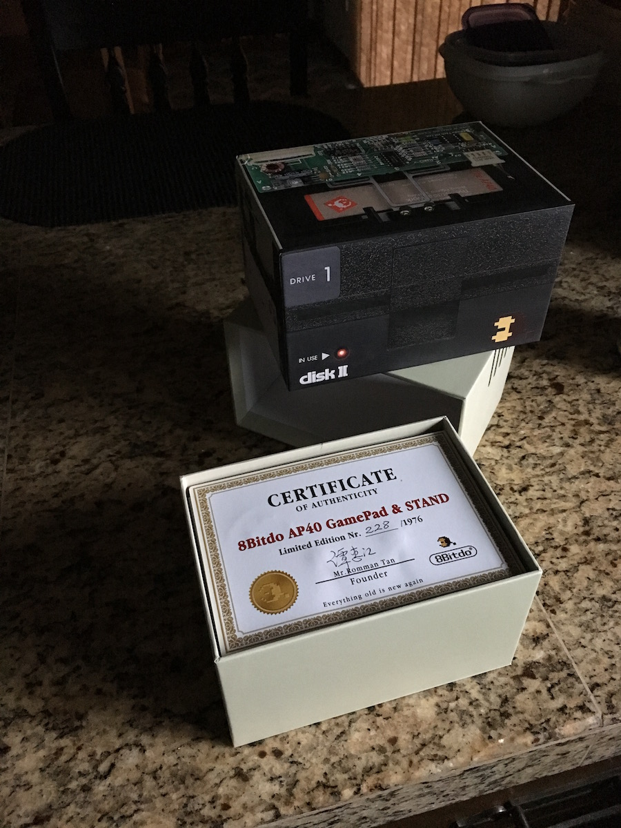 Certificate of Authenticity for the limited edition controller