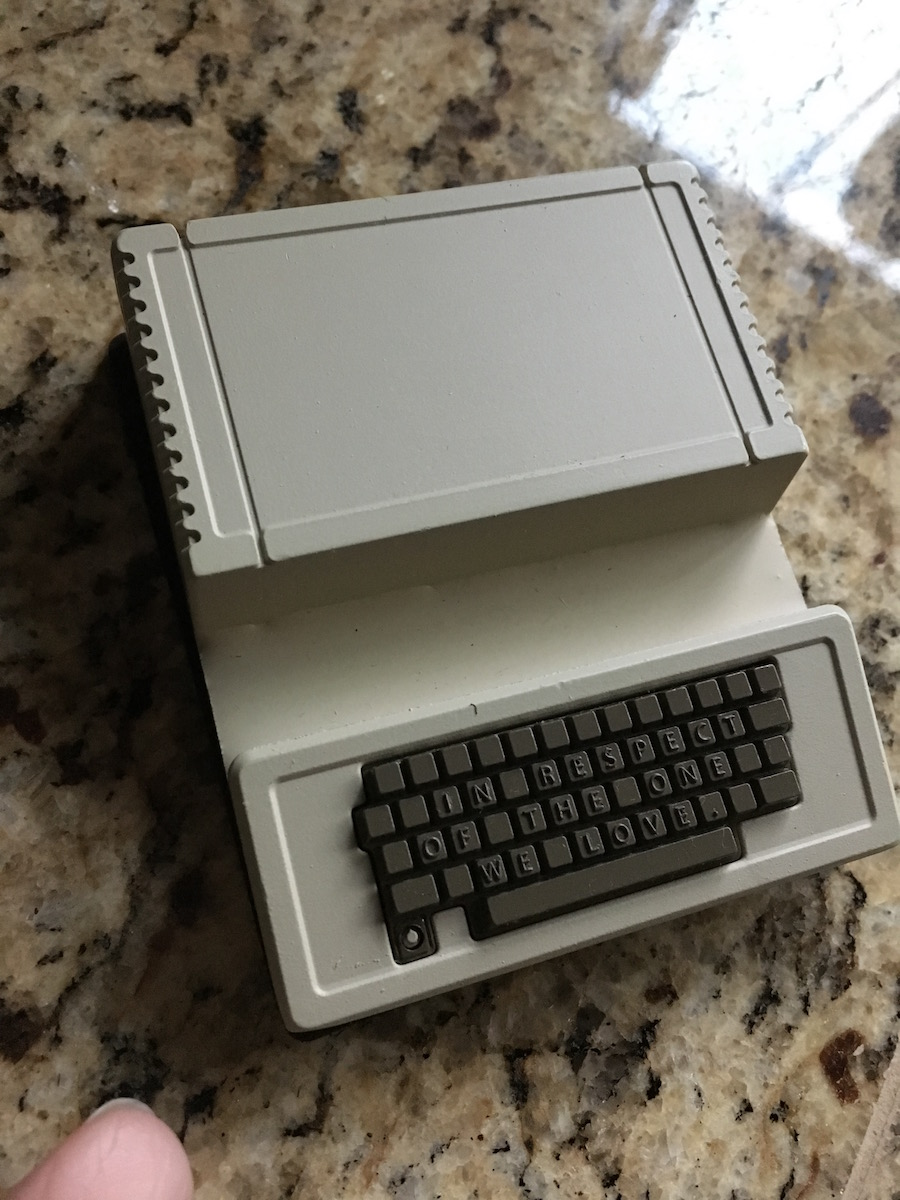 Metal Apple II model which is a stand for the 8Bitdo controller.