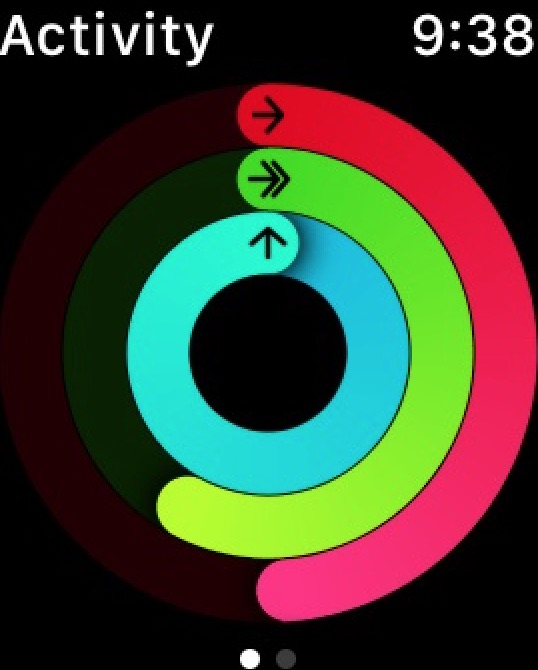 Apple Watch Activity App showing Move Goal status