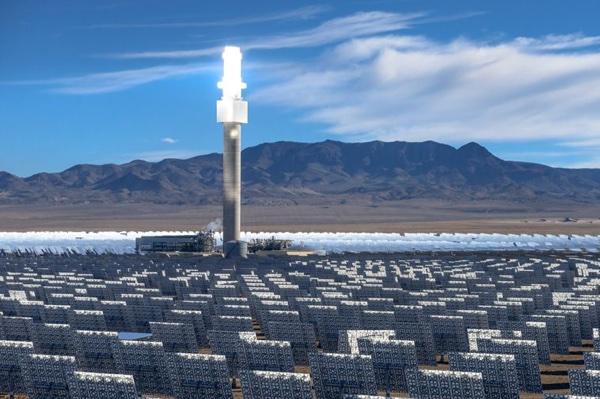Crescent Dunes solar power plant near Tonopah, NV