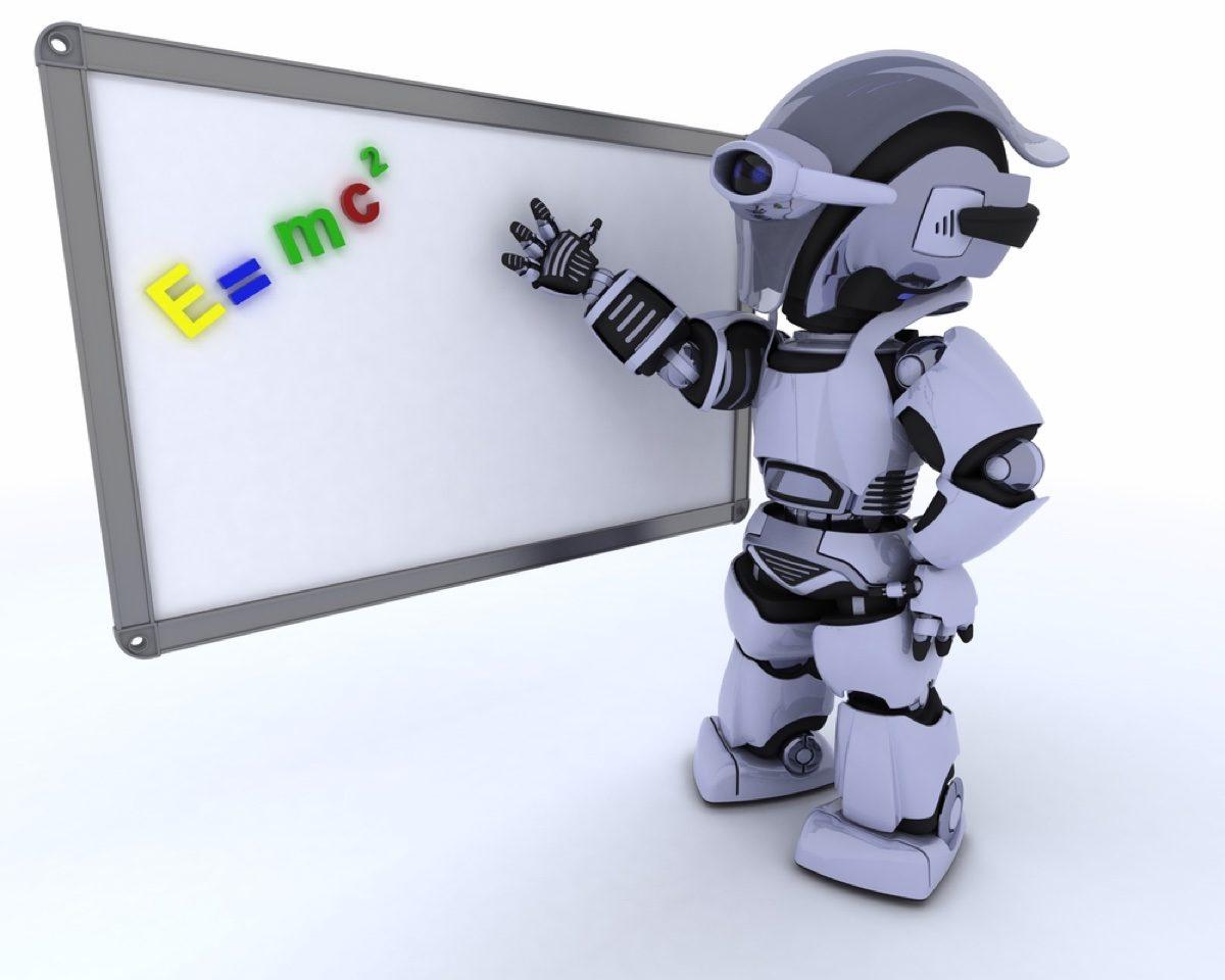 Robot at whiteboard