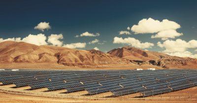 A solar power farm.