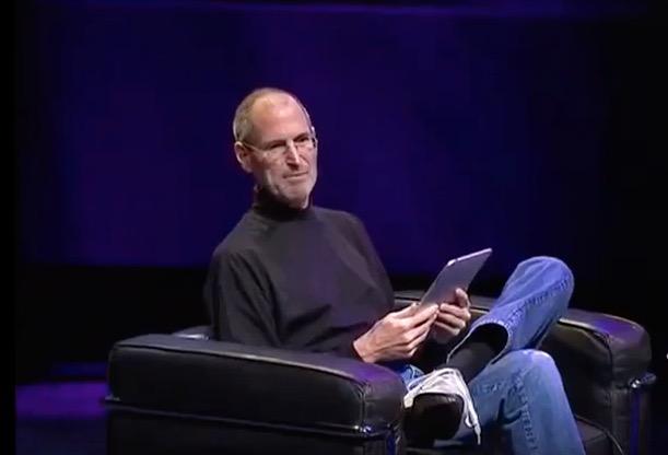 Steve Jobs introduces the iPad