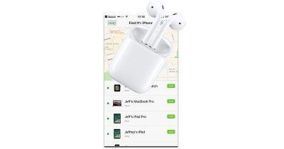 Find My iPhone app tracks lost AirPods in iOS 10.3