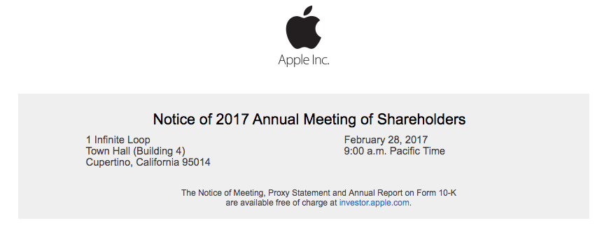 apple 2017 shareholders meeting