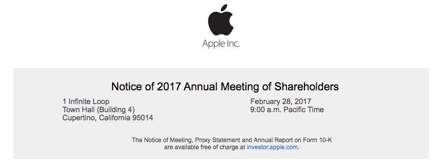 apple 2017 shareholders meeting