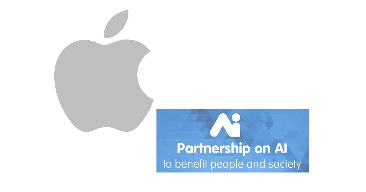 Apple a founding member of the Partnership on AI