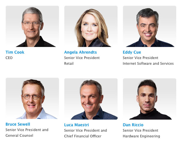 apple senior leadership