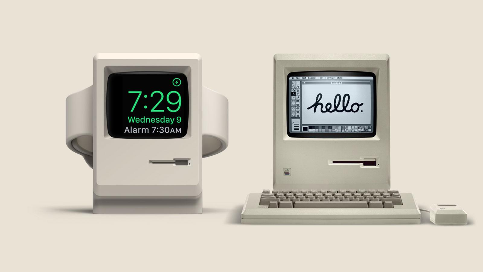 Wake Up to Classic Mac Nostalgia with the Elago W3 Apple Watch Stand