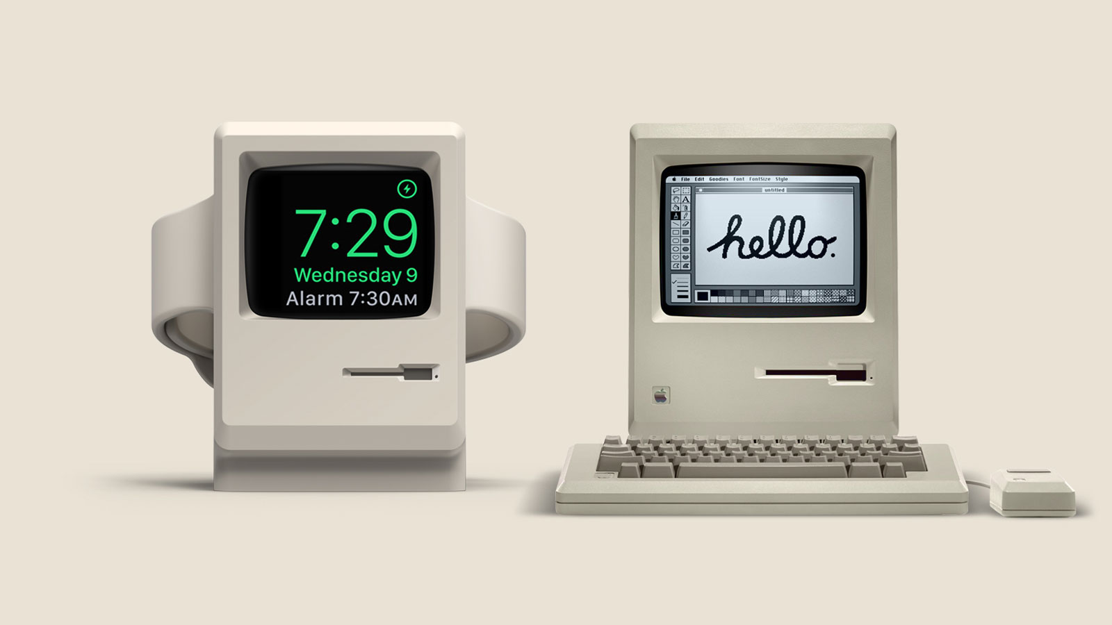Wake Up to Classic Mac Nostalgia with the Elago W3 Apple Watch Stand