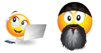 Bryan Chaffin and Jim Dalrymple as Emojis