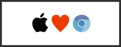 iOS chrome browser banner
