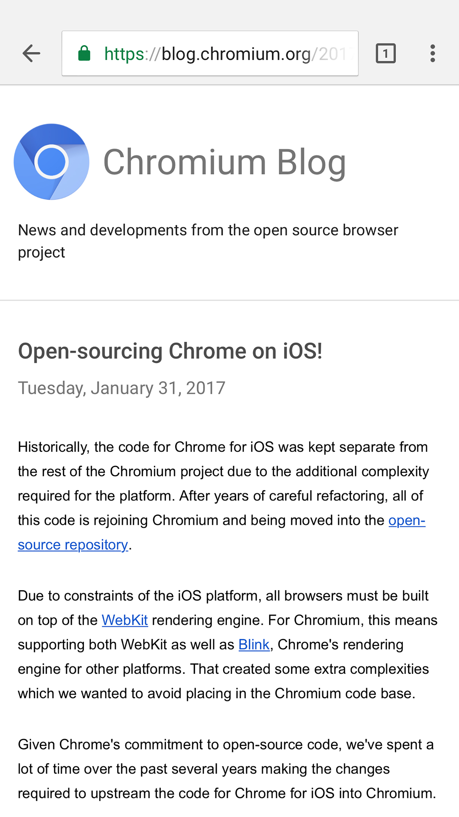 ios chrome browser