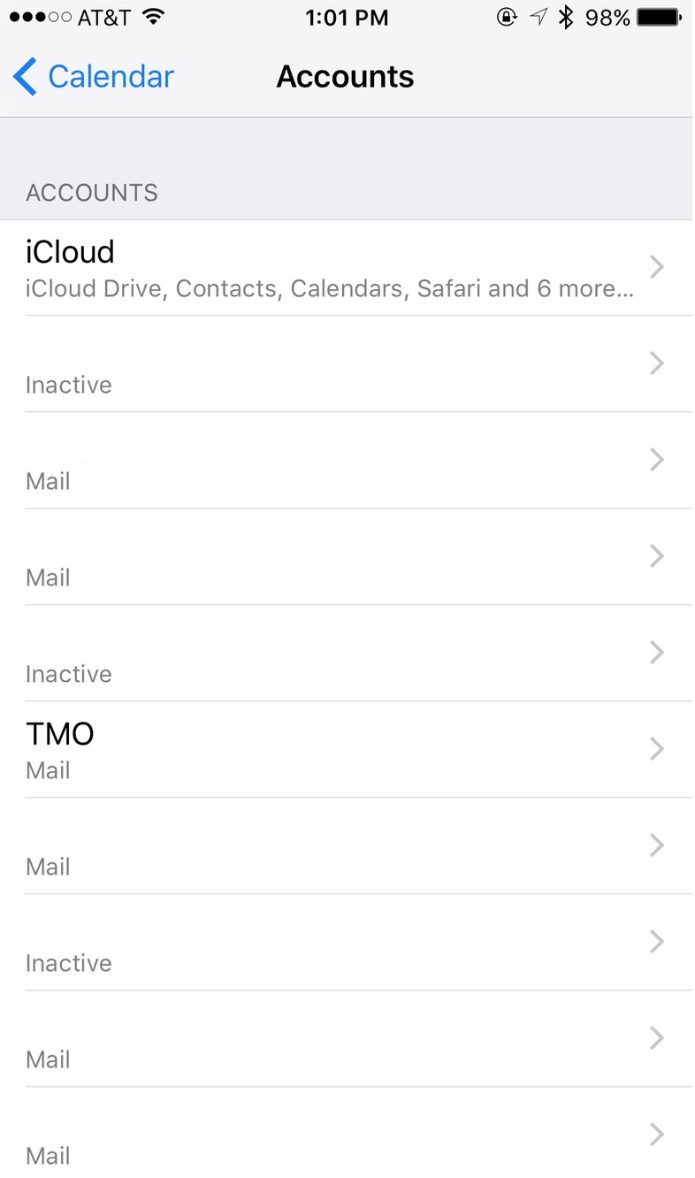 iPhone Calendar Settings