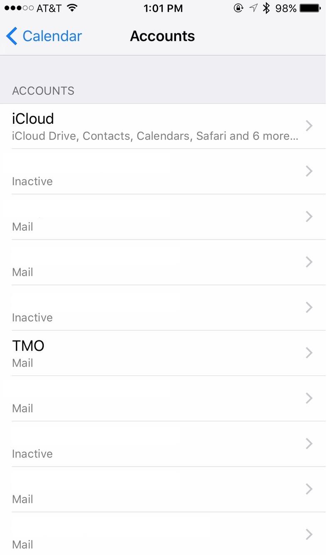 iPhone Calendar Settings