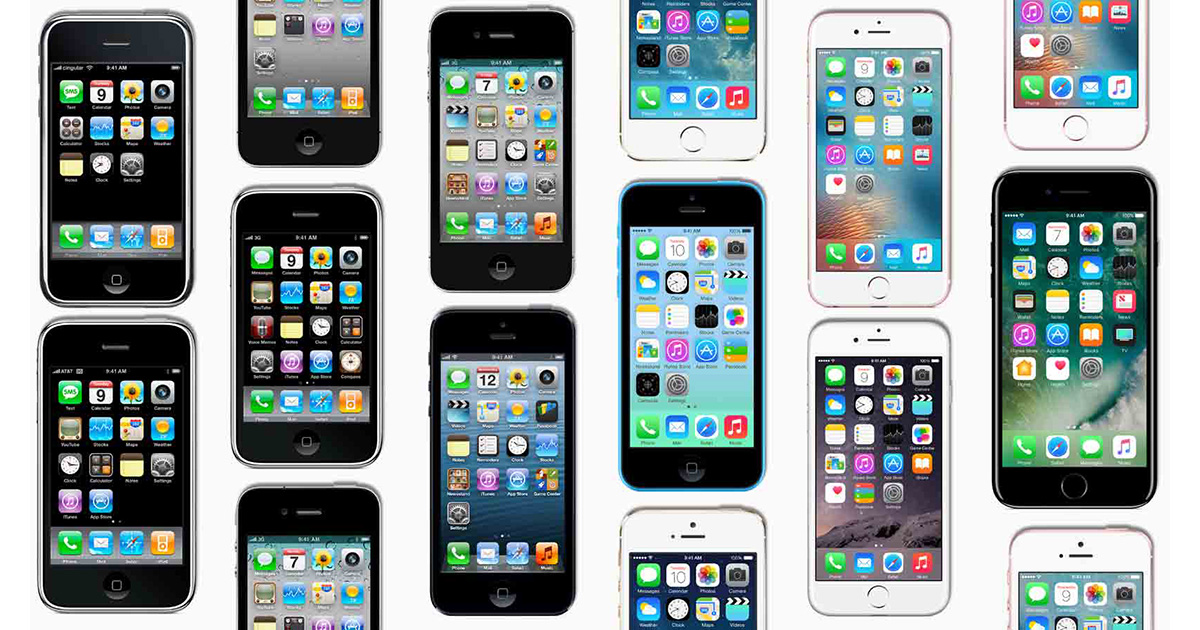 10 years of iPhones photo mosaic