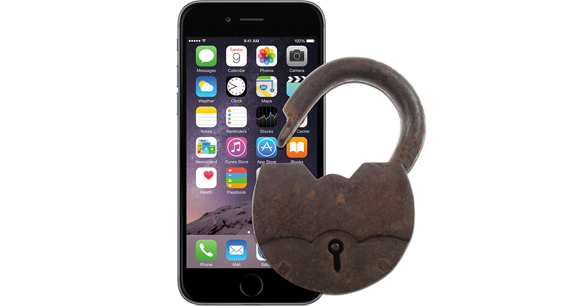 Cellebrite claims to unlock all iPhone models. Image of iPhone with lock.