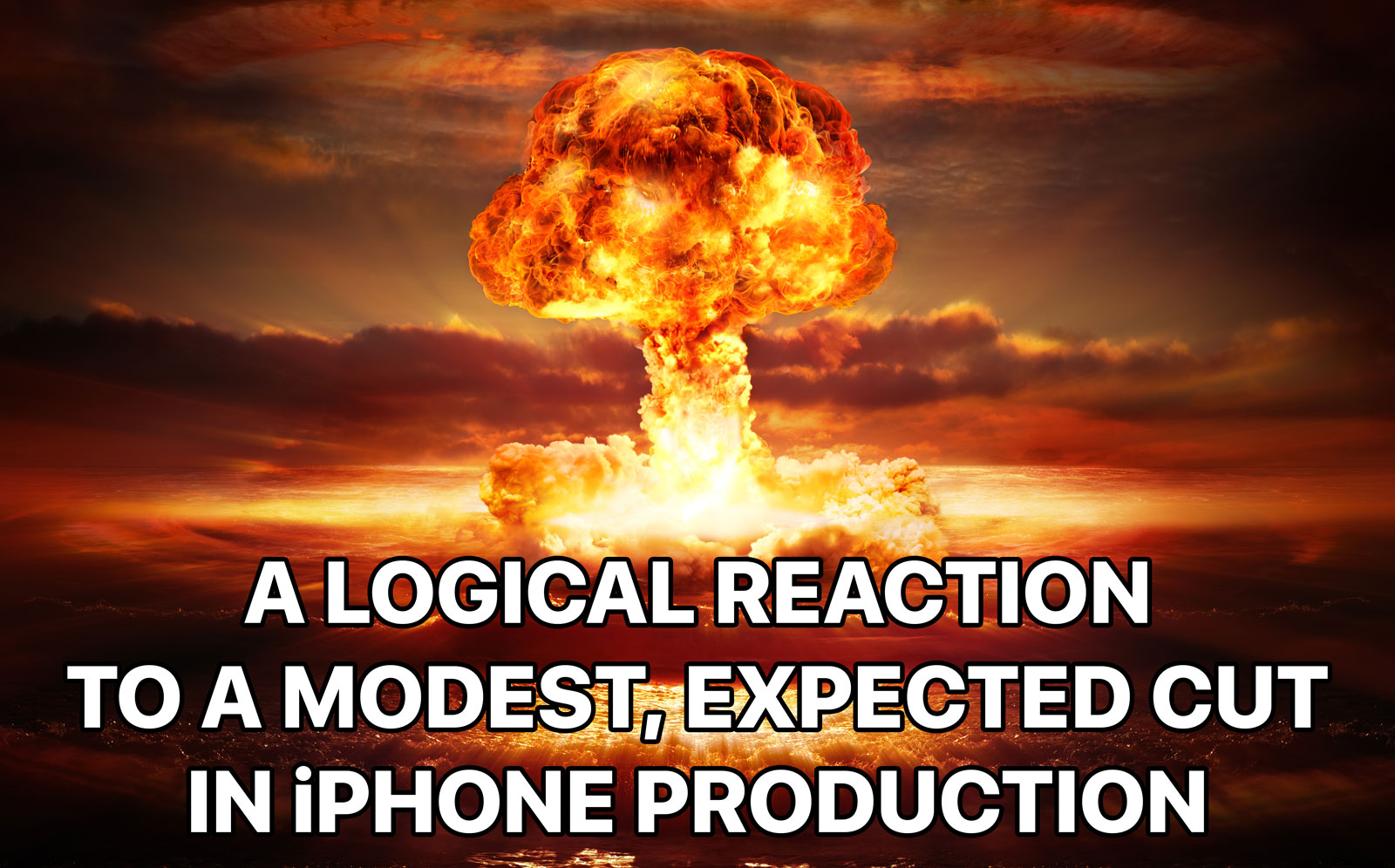iphone production cut reaction