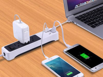 Kinkoo 3-Outlet Surge Protecting Smart Power Strip