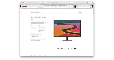Apple never allowed LG UltraFine 5K display reviews