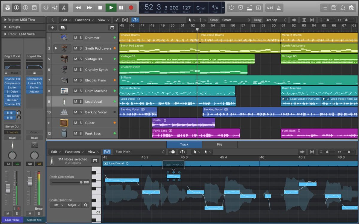 apple releases logic pro x 10 3 1 with security fix improved regions and ios garageband support. Black Bedroom Furniture Sets. Home Design Ideas