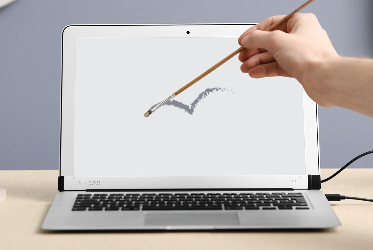 defy apple and add a touchscreen to your macbook with airbar