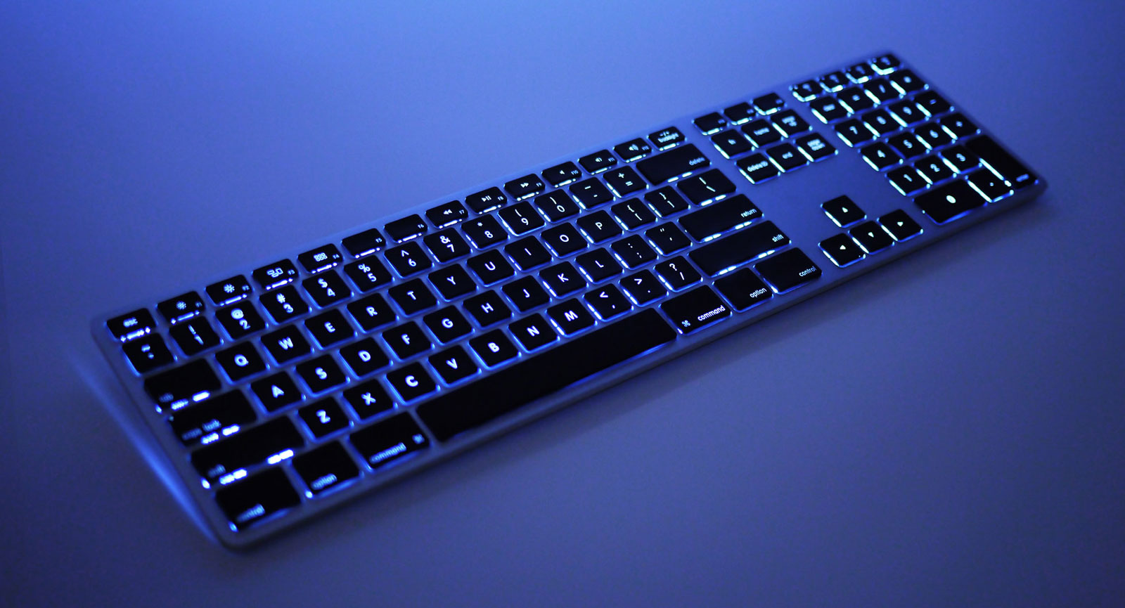 This Dual-Battery Wireless Backlit Keyboard for Mac Has It All