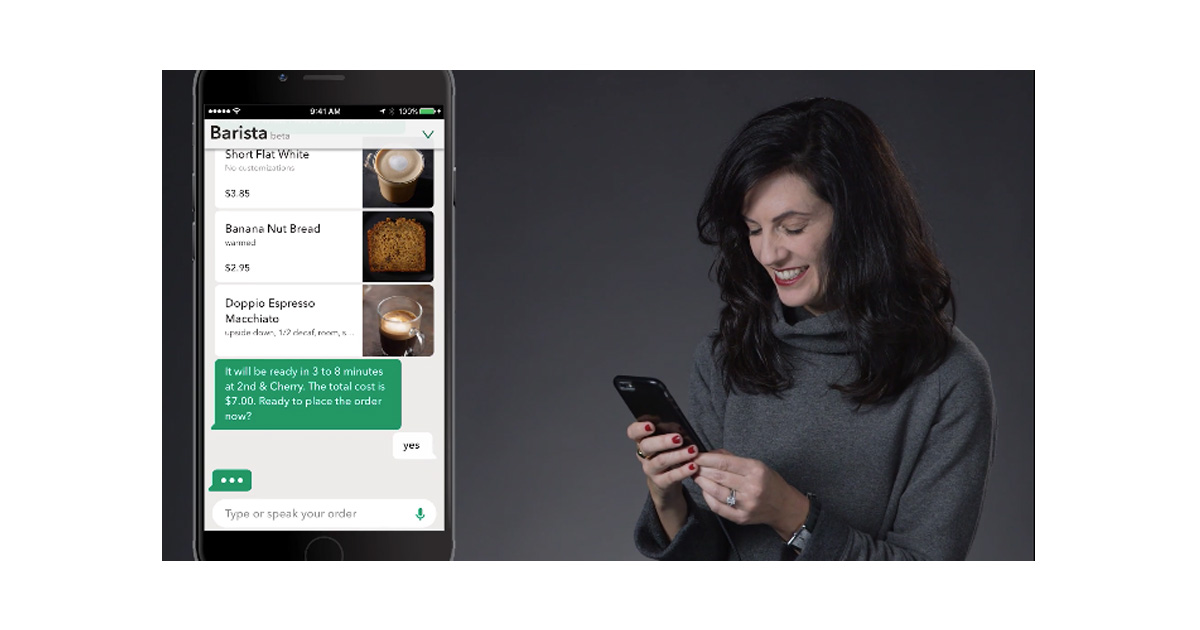 Starbucks App Lets You Order with Your Voice