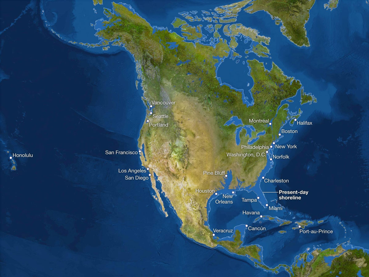 What Earth Would Look Like if All the Ice Melted