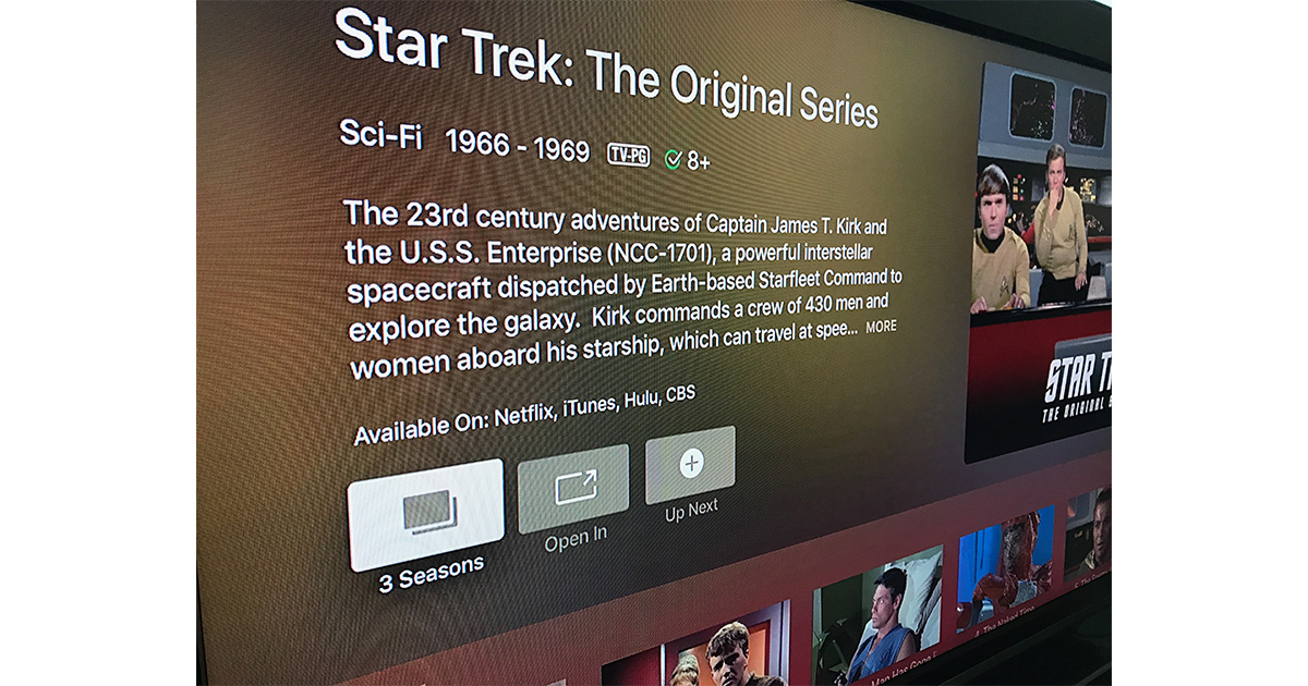 Netflix in Apple's TV app