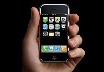 original iPhone in a hand
