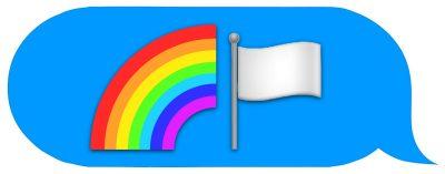 rainbow emoji message