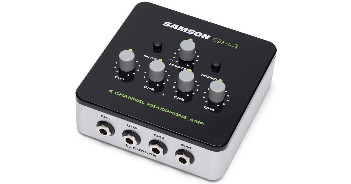 Samson QH4 Headphone Amp: 4 Headphones for Desktop Recording