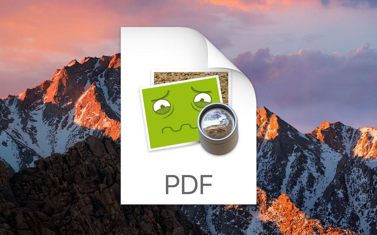 macos sierra pdf bugs