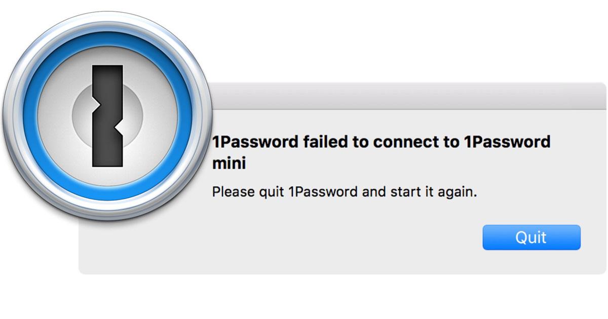 1Password logo with certificate-error