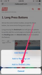 Adding to Shared Links
